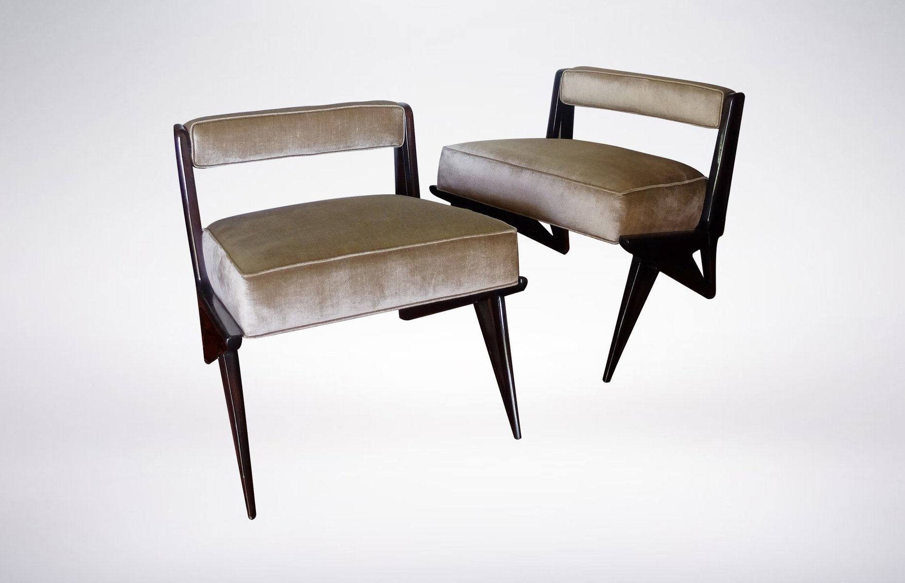 chaise d 39 appoint verte p le en cuir 1950s en vente sur pamono. Black Bedroom Furniture Sets. Home Design Ideas