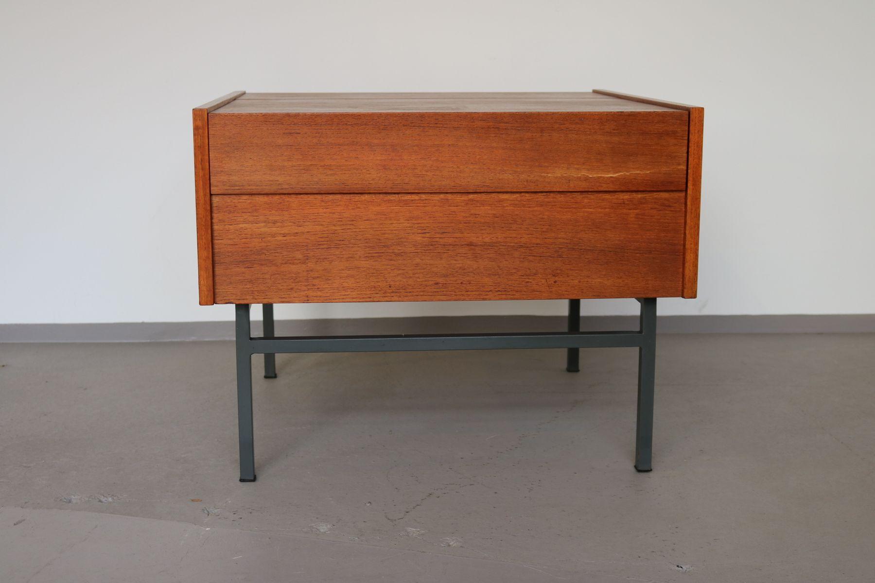 Klappbarer Vintage Teakholz Couchtisch, 1960er