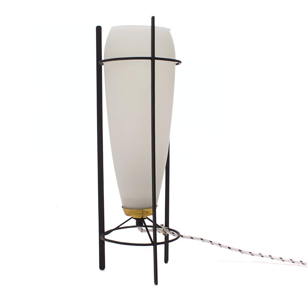 Vintage Milchglas Tischlampe von Philips