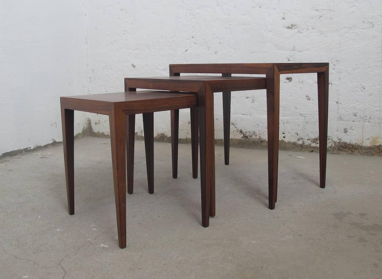 d nische vintage palisander satztische von severin hansen bei pamono kaufen. Black Bedroom Furniture Sets. Home Design Ideas