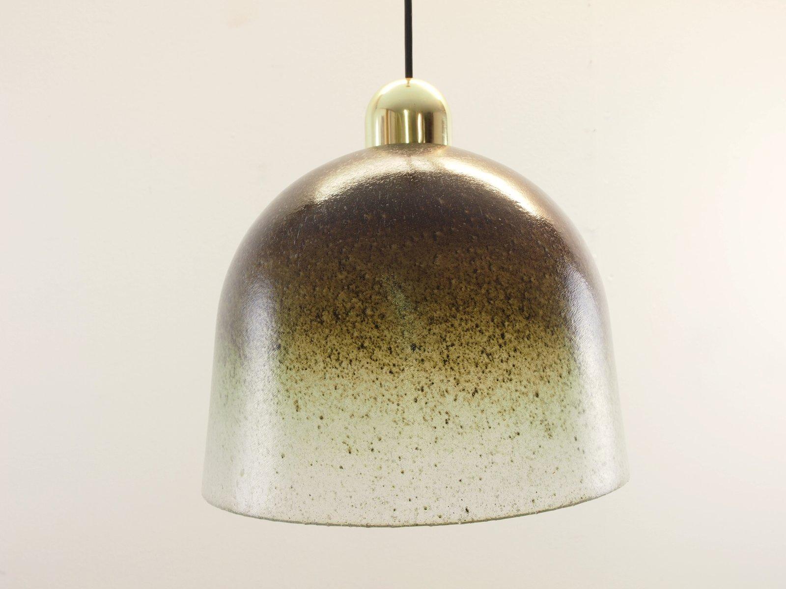 Lampade In Vetro Soffiato : Lampada a sospensione vintage in vetro soffiato a mano di peill