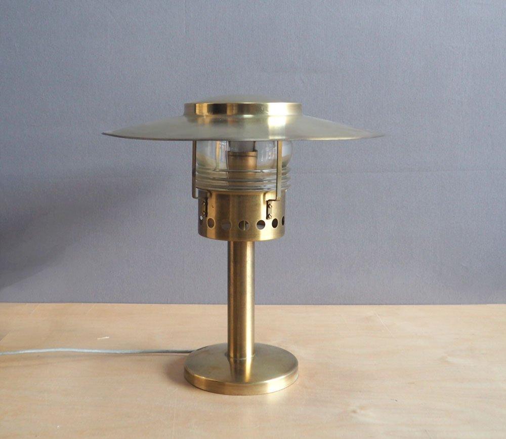 Dänische Tischlampe aus Messing von Holm Sorenson, 1960er