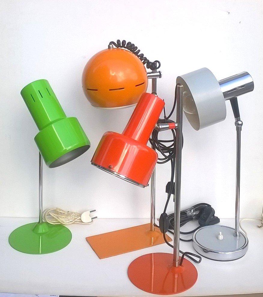 Italienische Pop Lampen, 1960er, 4er Set