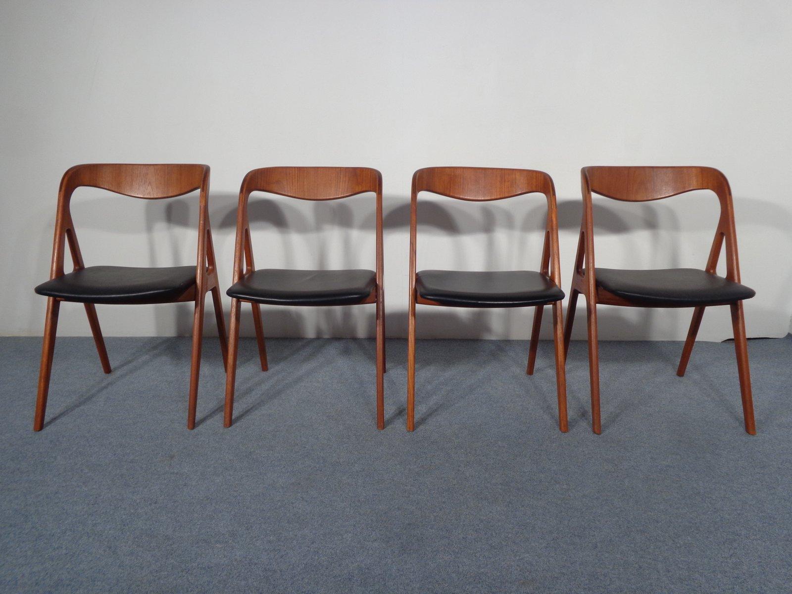 vintage teakholz esszimmerst hle von vamo 4er set bei pamono kaufen. Black Bedroom Furniture Sets. Home Design Ideas