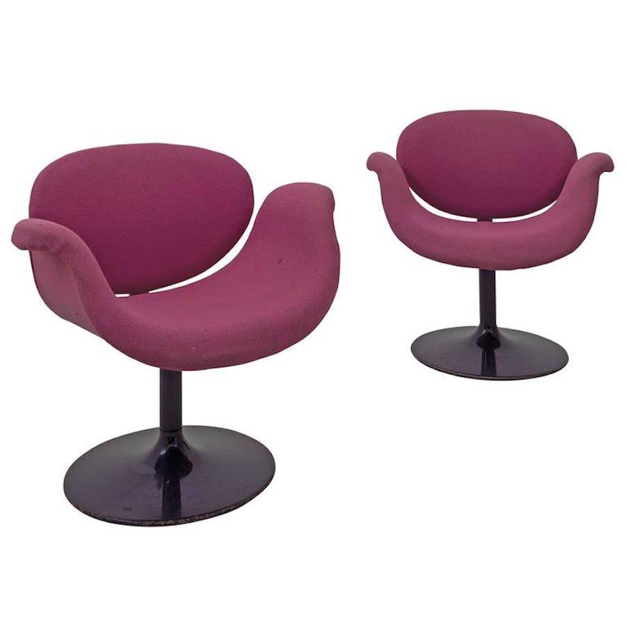 petits fauteuils tulipe par pierre paulin pour artifort 1960s en vente sur pamono. Black Bedroom Furniture Sets. Home Design Ideas