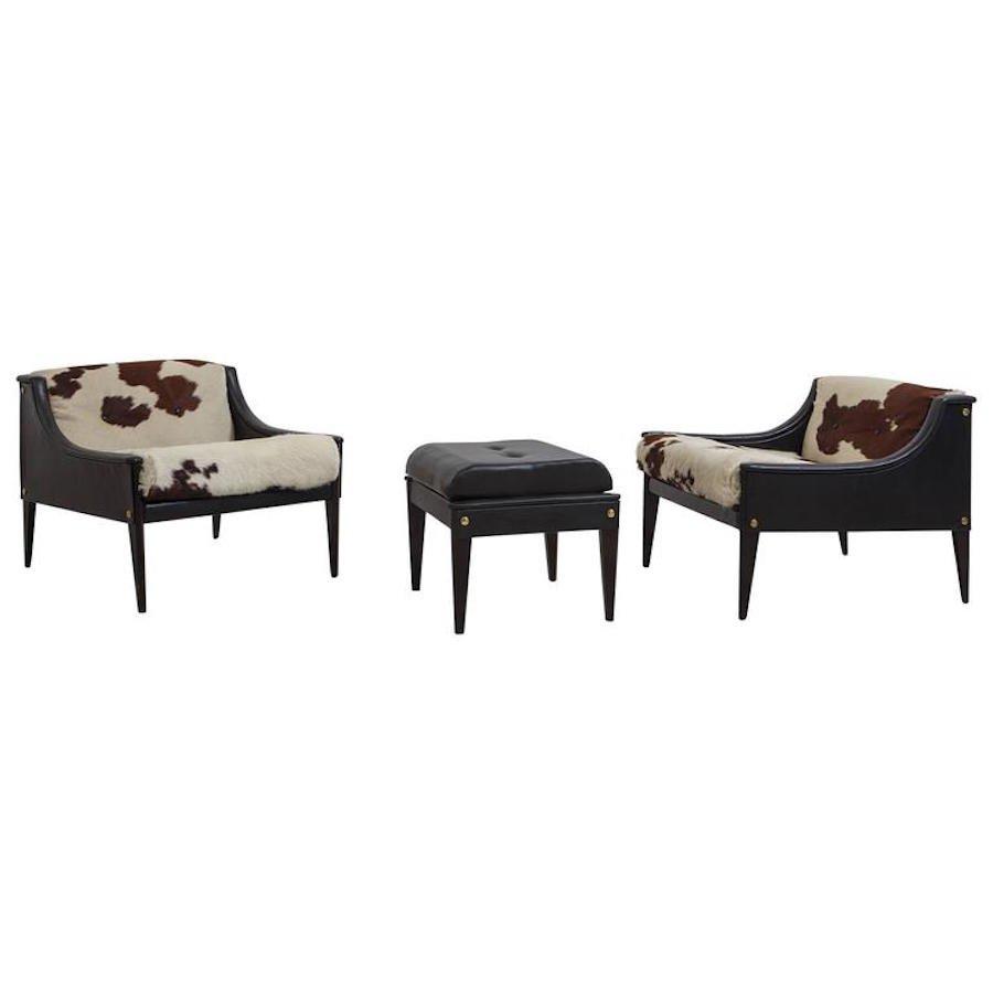 dezza polsterst hle von ottoman f r gio ponti for poltrona frau 1965 bei pamono kaufen. Black Bedroom Furniture Sets. Home Design Ideas