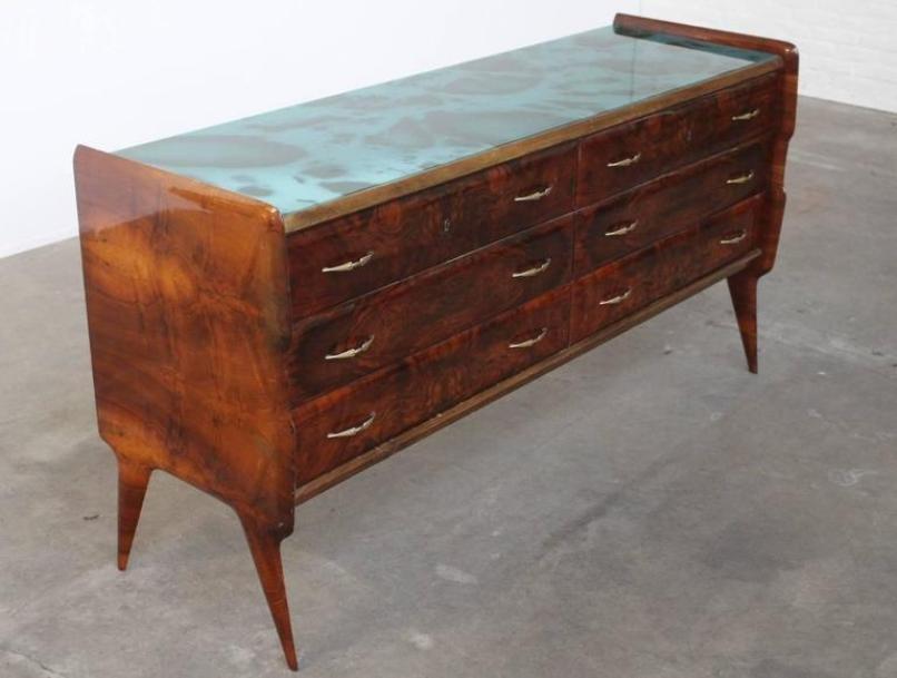 italienisches vintage sideboard aus holz glas bei pamono kaufen. Black Bedroom Furniture Sets. Home Design Ideas