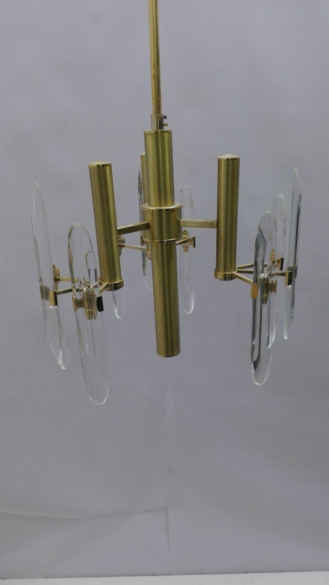 Kronelucheter mit Drei Leuchten von Gaetano Sciolari, 1960er