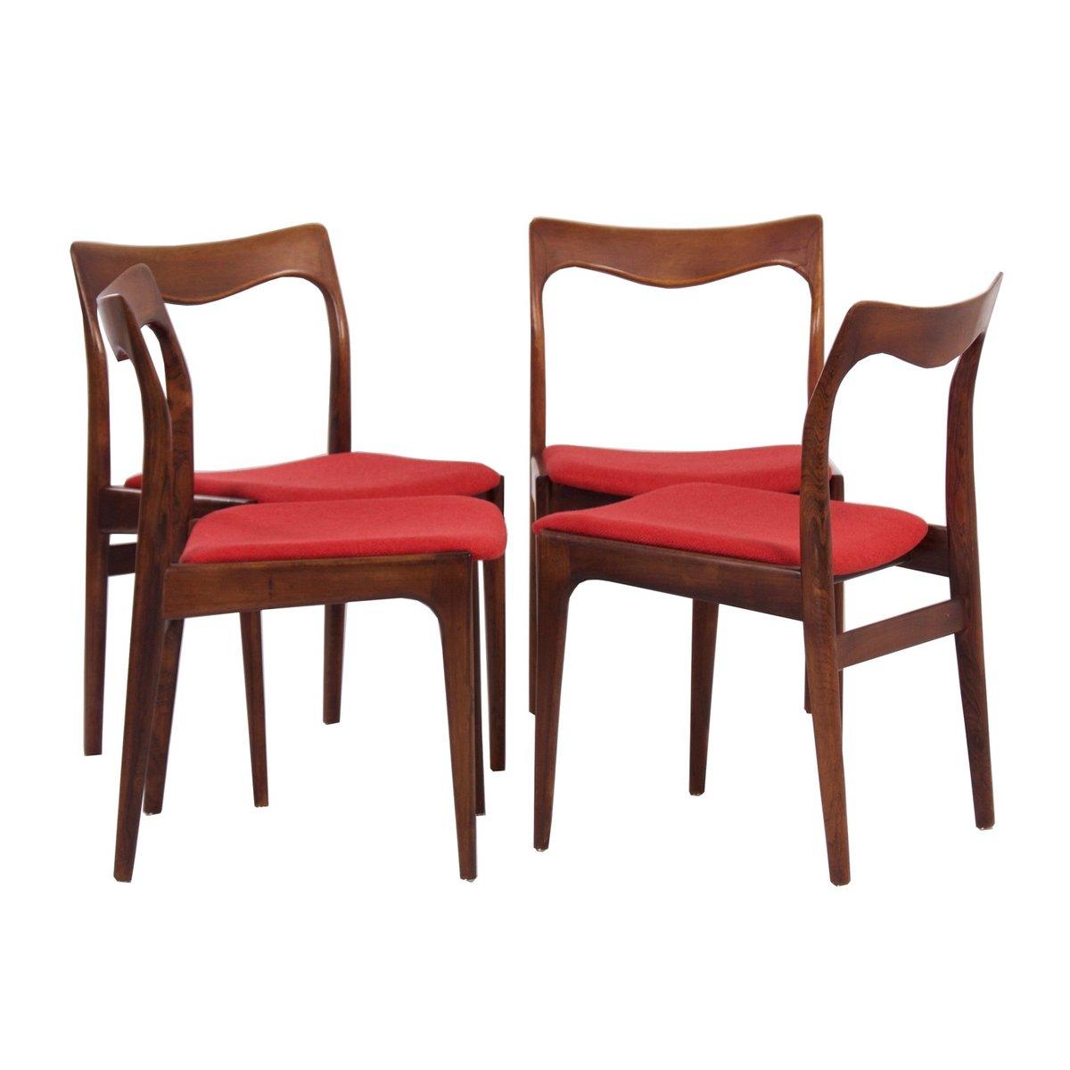 palisander esszimmerst hle von awa 1960er 4er set bei pamono kaufen. Black Bedroom Furniture Sets. Home Design Ideas