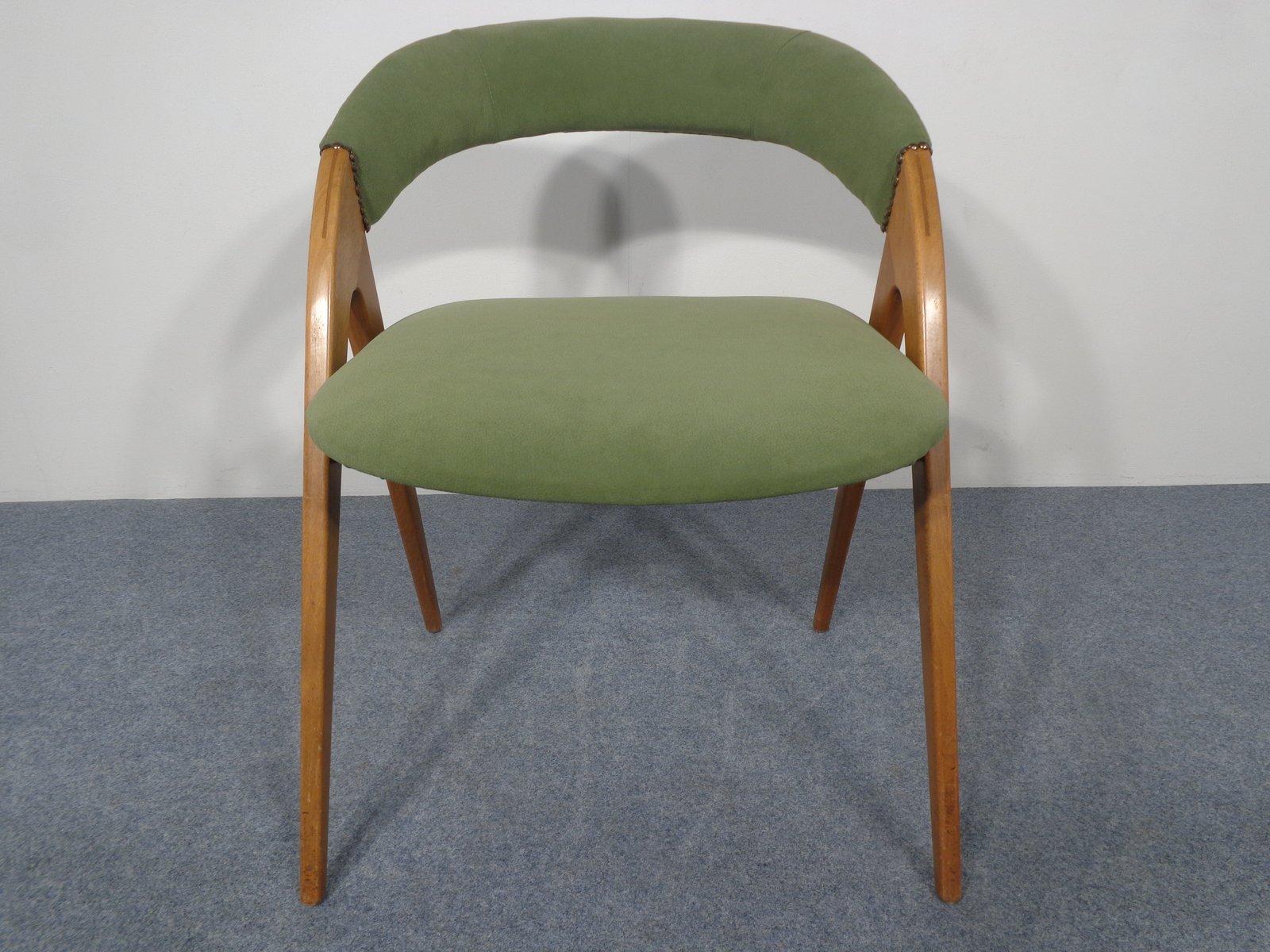 chaise verte en bouleau 1960s - Chaise Verte
