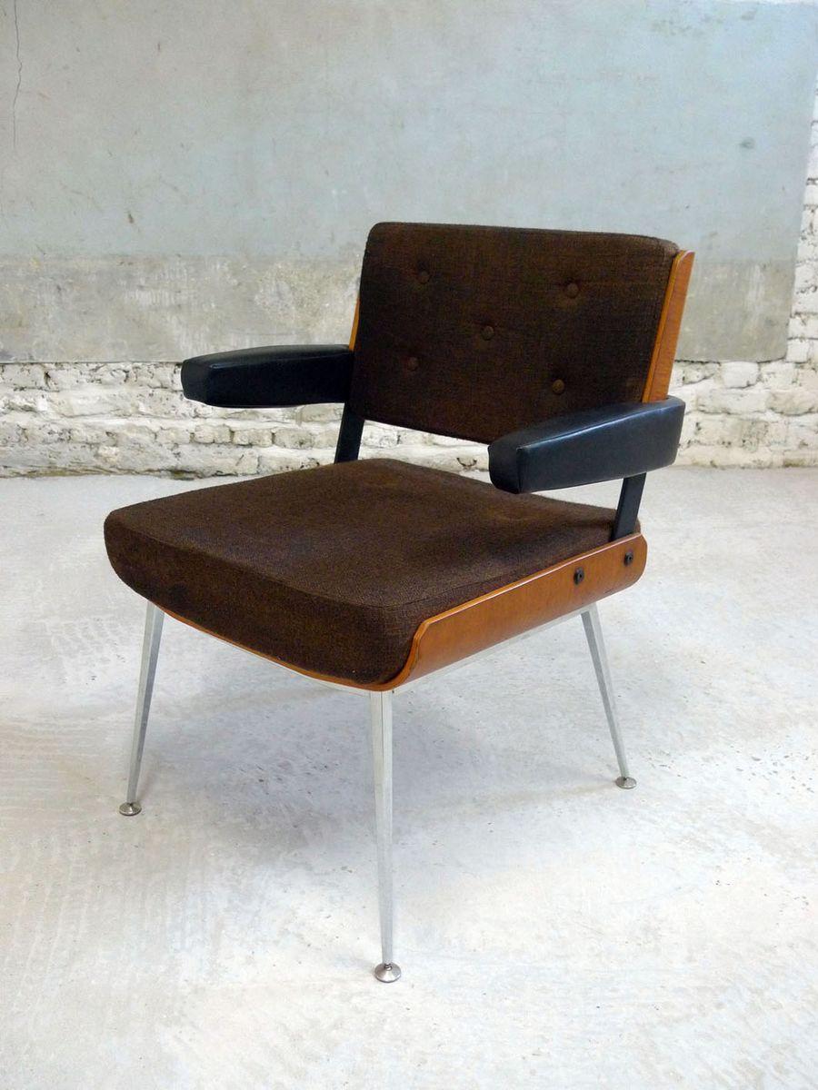 Französischer Vintage Armlehnstuhl von Alain Richard