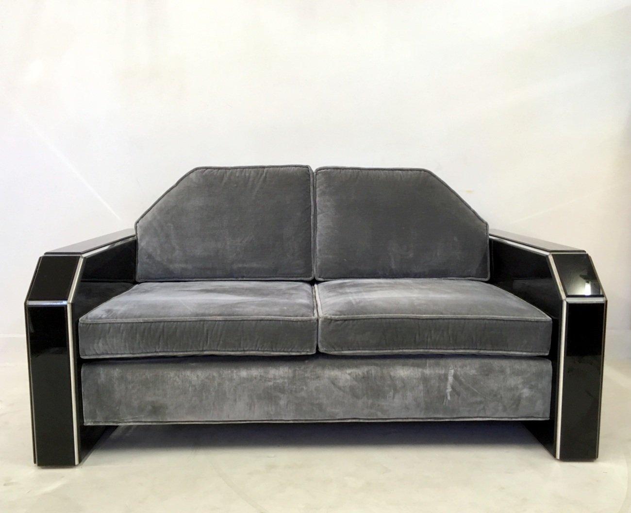 amerikanisches vintage plexiglas samt sofa und couchtisch bei pamono kaufen. Black Bedroom Furniture Sets. Home Design Ideas