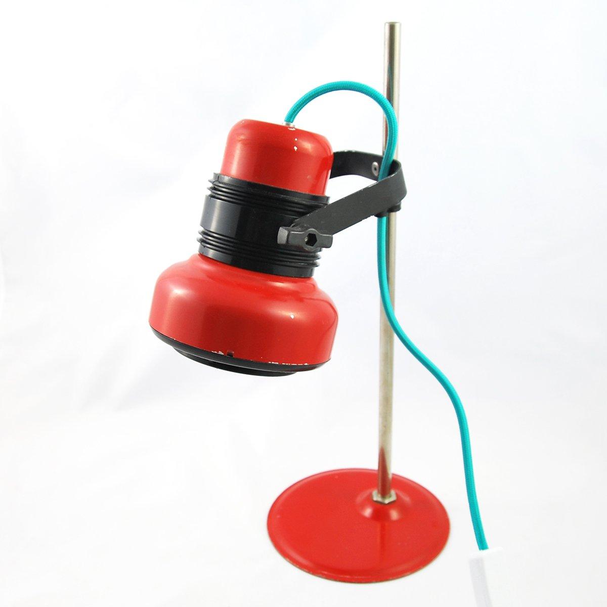 Ungarische Rote Modell HE 4380 Schreibtischlampe von Elektrofem, 1970e...