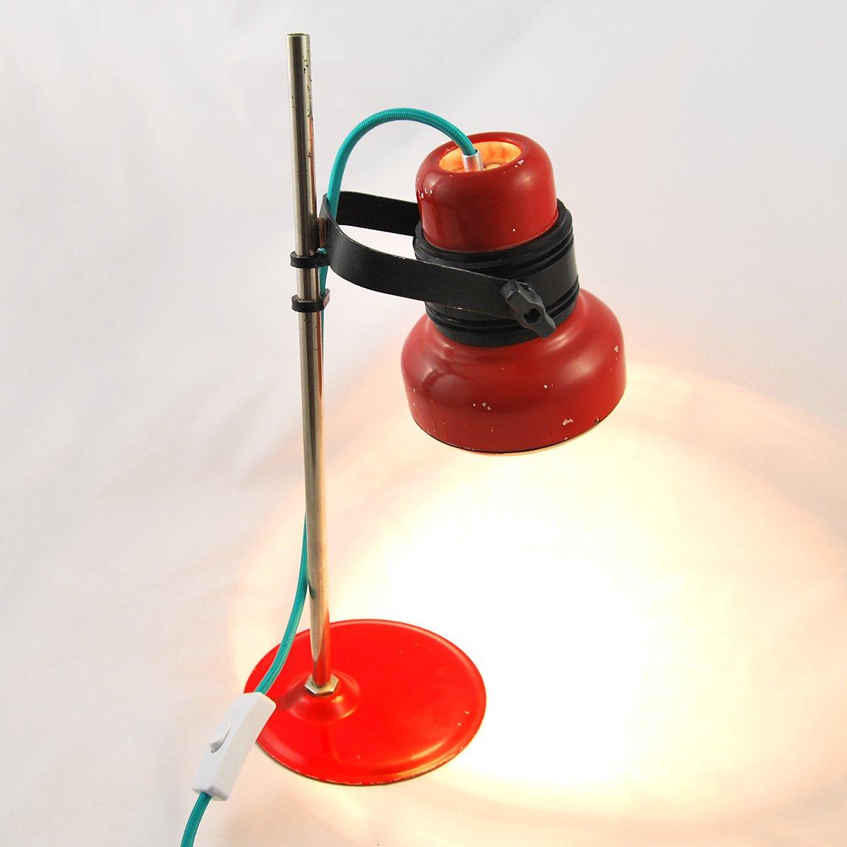 lampe de bureau rouge mod le he 4380 de elektrofem 1970s en vente sur pamono. Black Bedroom Furniture Sets. Home Design Ideas