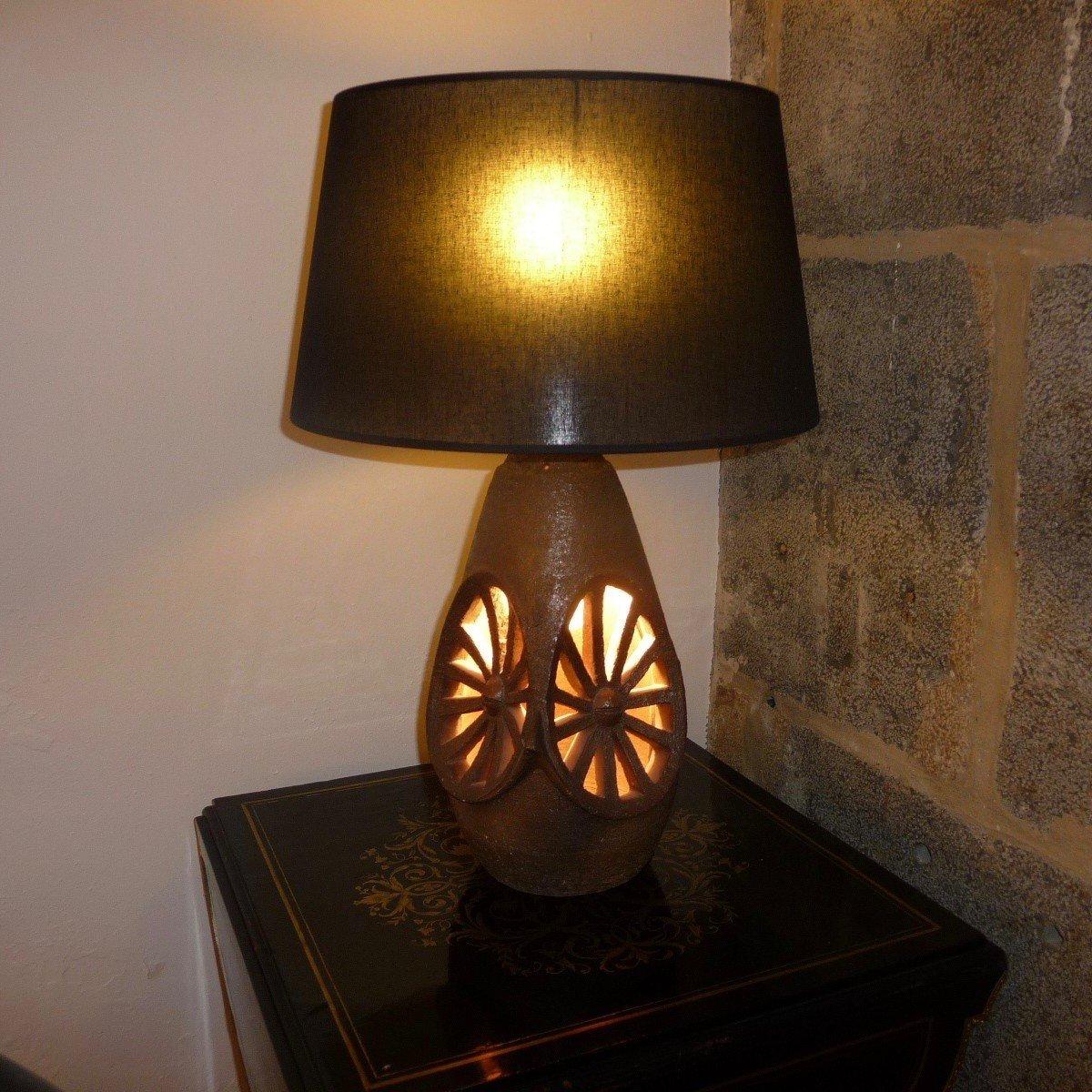 Vallauris Keramiklampe von Musarra, 1950er