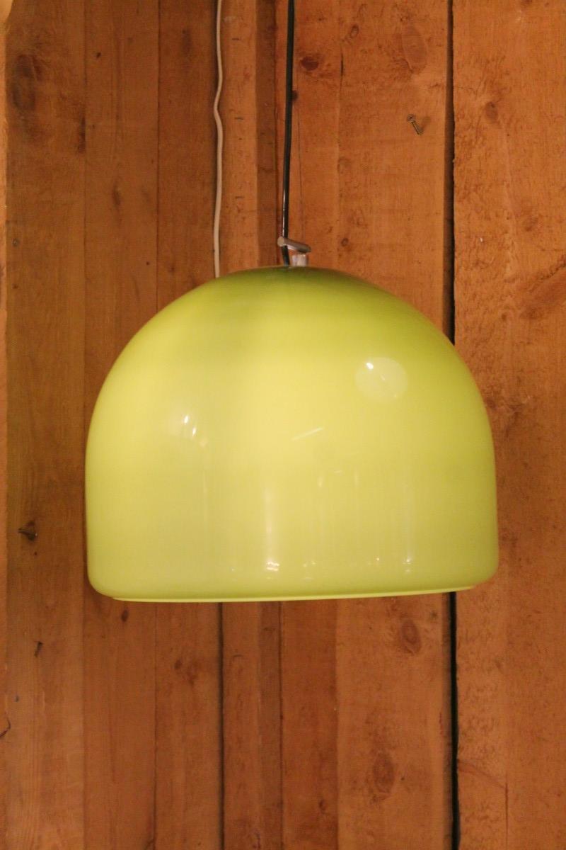 Pistazienfarbige Deckenlampen, 1960er, 2er Set