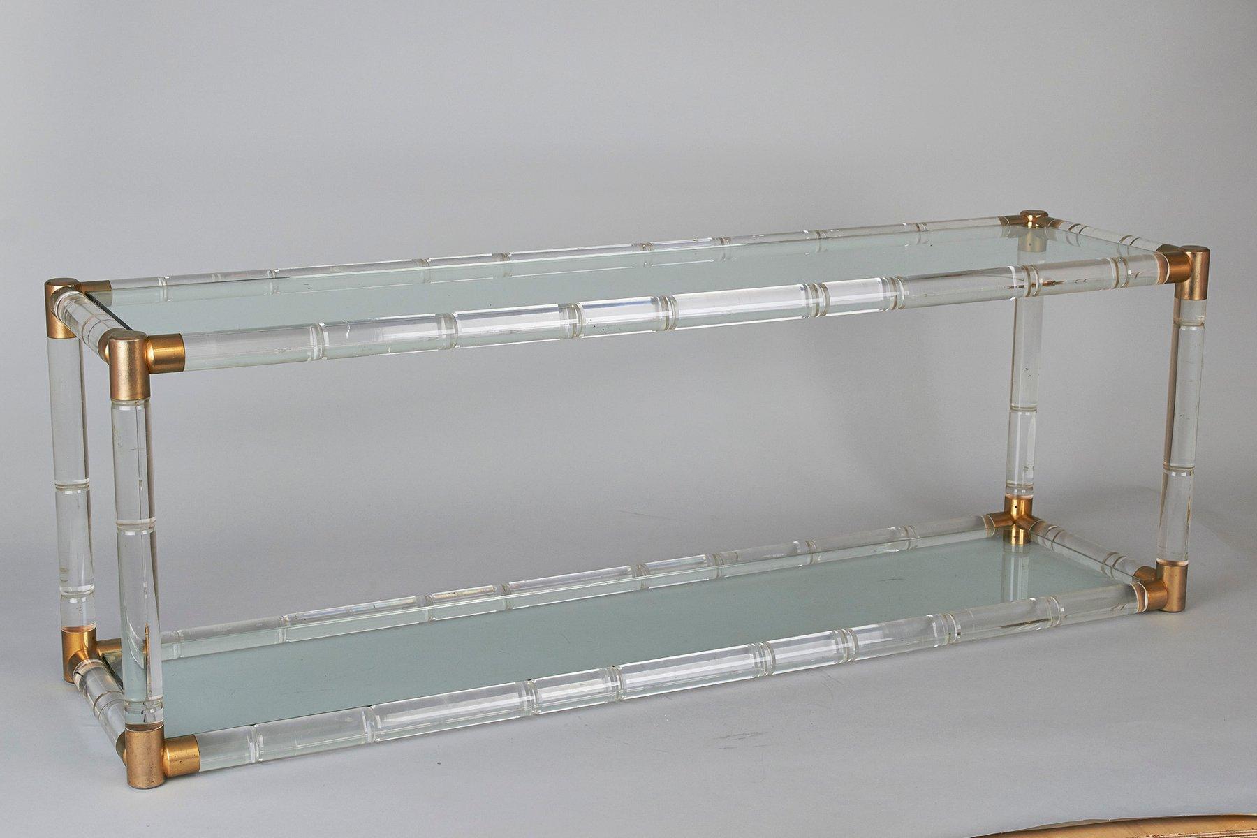Niedriges Mid-Century Plexiglas Sideboard von Charles Hollis Jones, 19...
