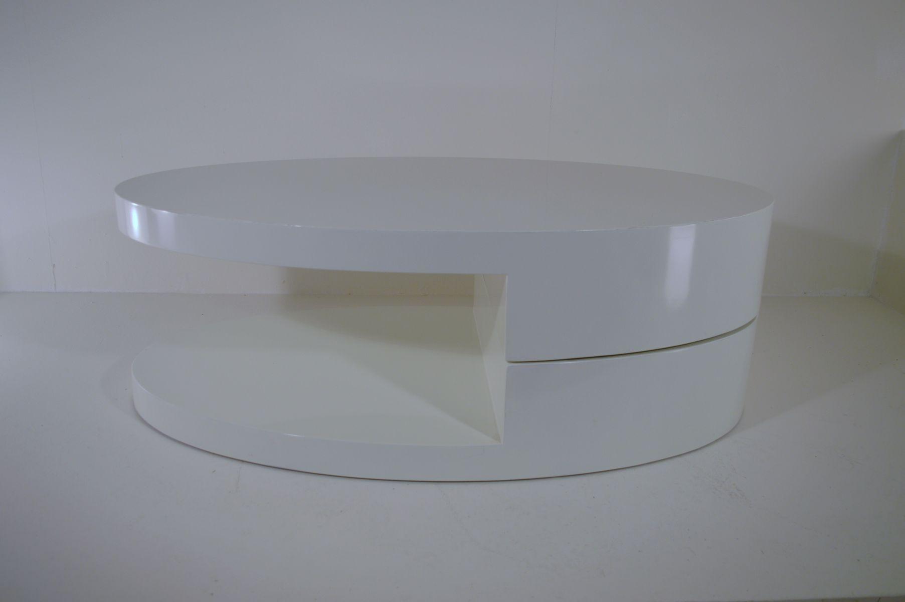 Vintage White Italian Rotating Coffee Table