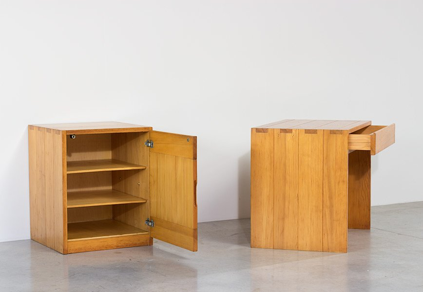 Schwedischer Vintage Kiefernholz Schreibtisch Kommode Bei Pamono