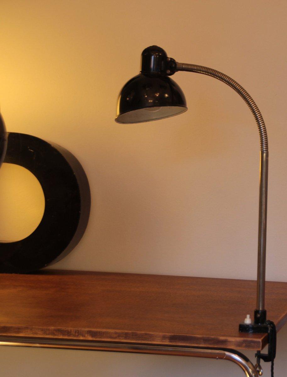 Vintage Klemmlampe mit Verstellbarem Hals von Christian Dell für Kaise...