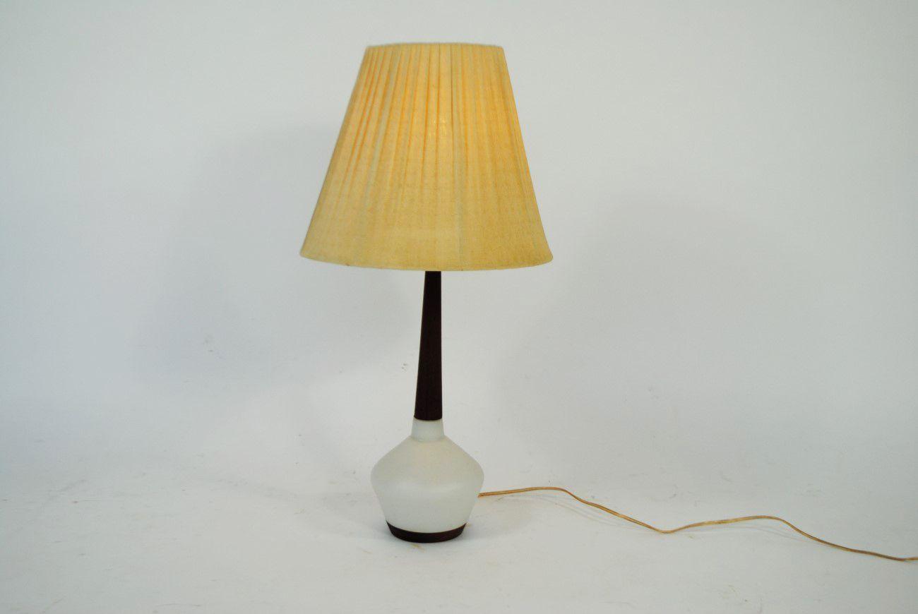Dänische Teak & Keramik Tischlampe, 1960er