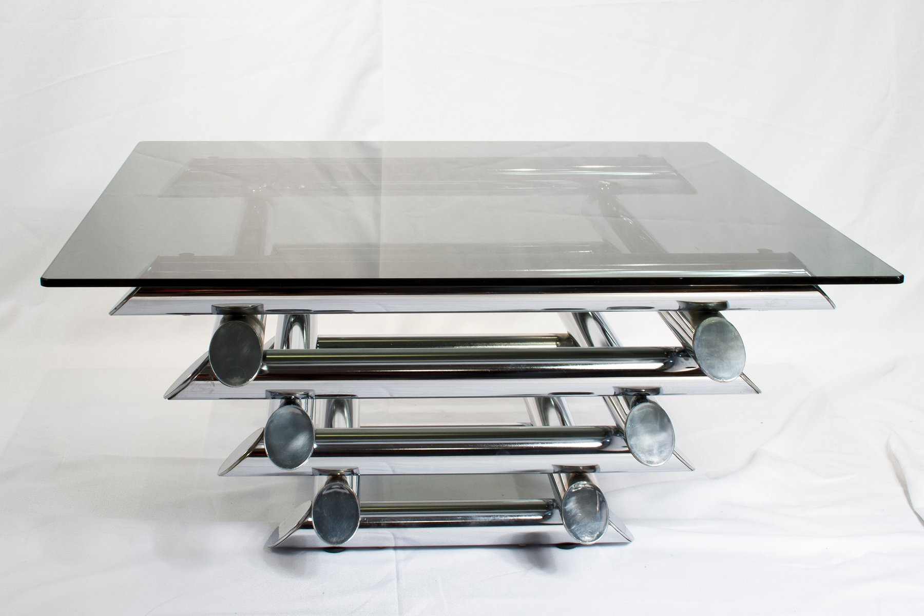 French Tubular Chrome Coffee Table 1970s For Sale At Pamono