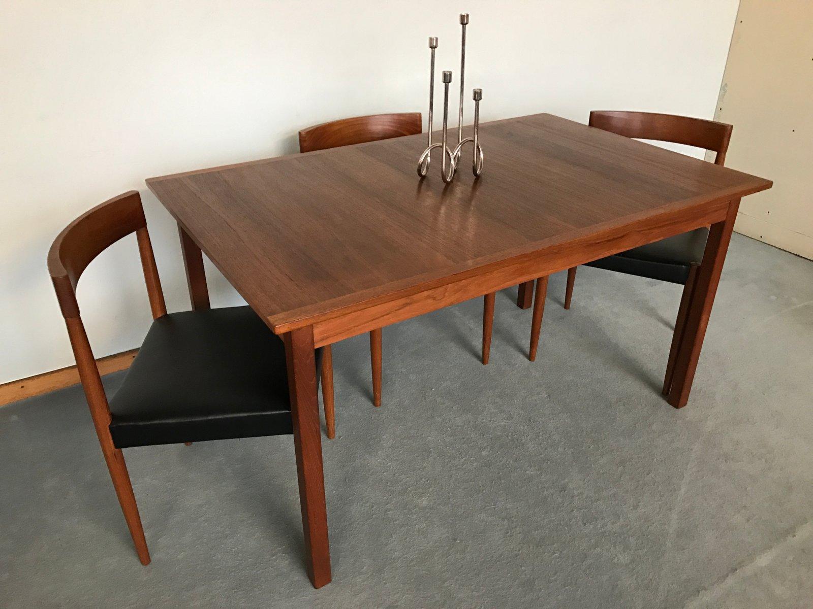 Vintage Scandinavian Teak Dining Table By Nils Jonsson For
