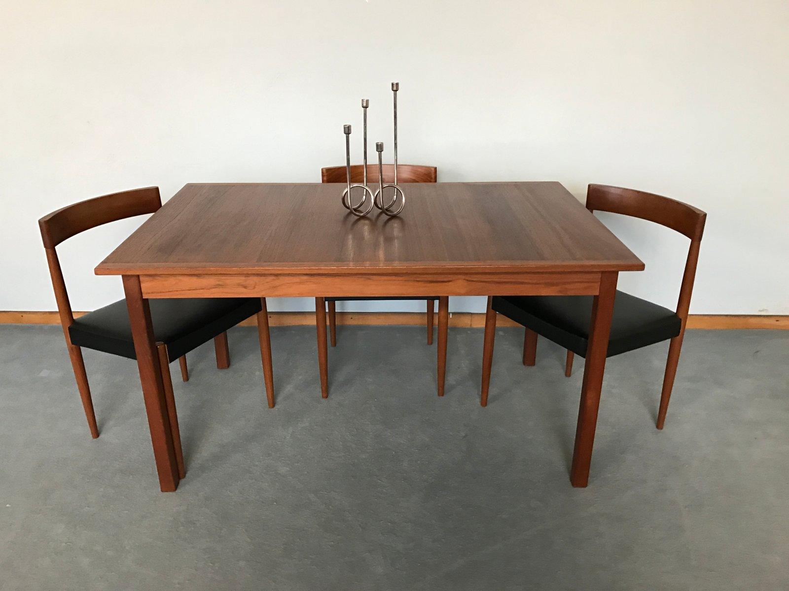 skandinavischer vintage teak esstisch von nils jonsson bei pamono kaufen. Black Bedroom Furniture Sets. Home Design Ideas