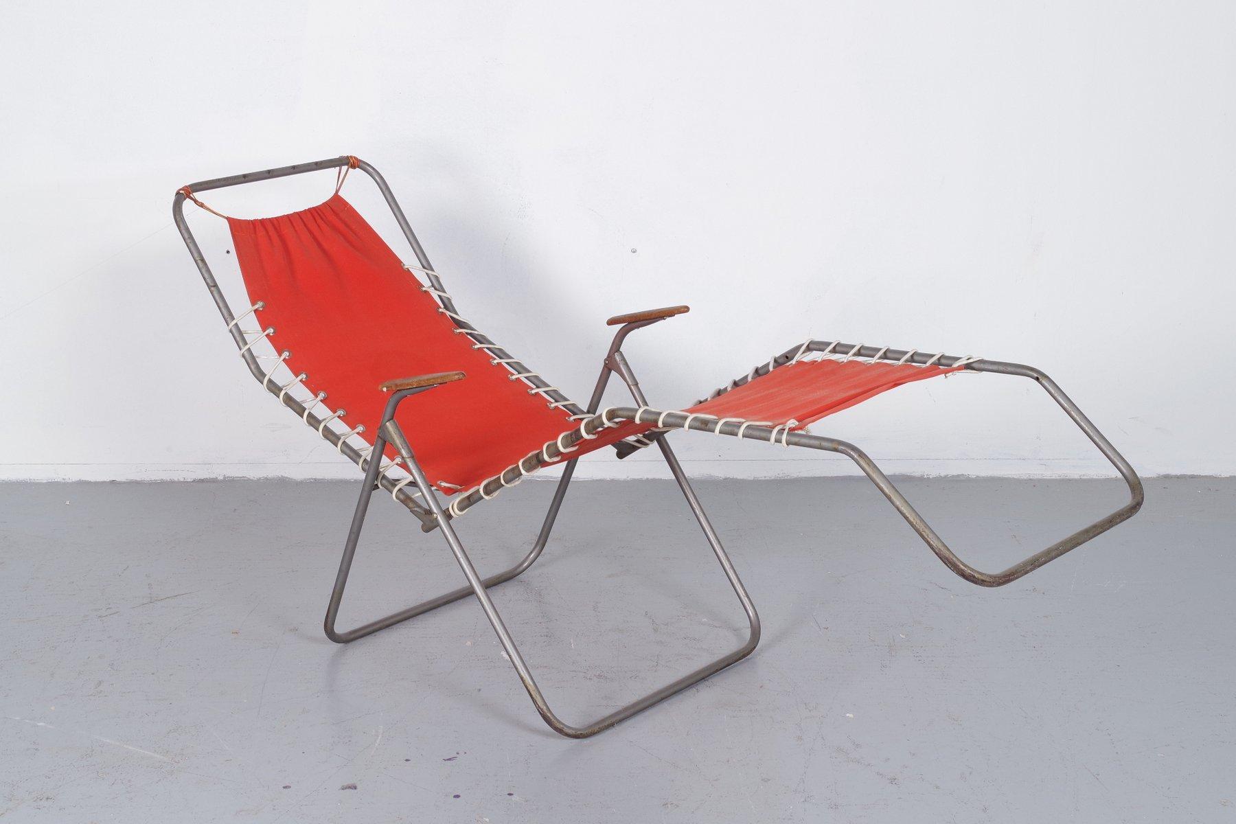 Foldable Beach Chair, 1950s
