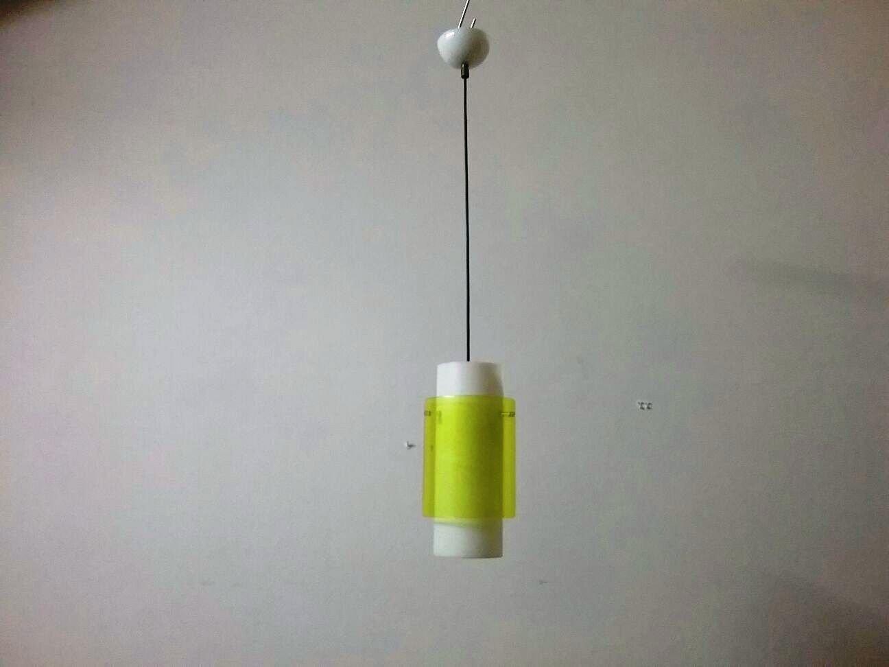Gelbe Deckenlampe, 1950er