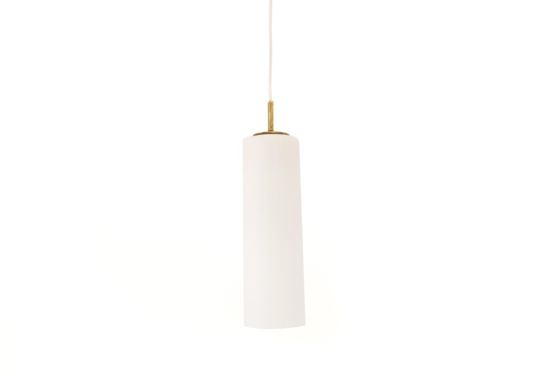 Italienische Weiße Murano Glas Lampe von Gino Vistosi, 1960er