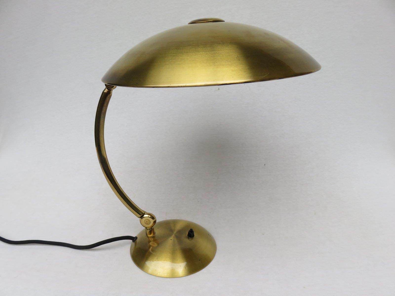 Messing Schreibtischlampe von Hillebrand, 1930er