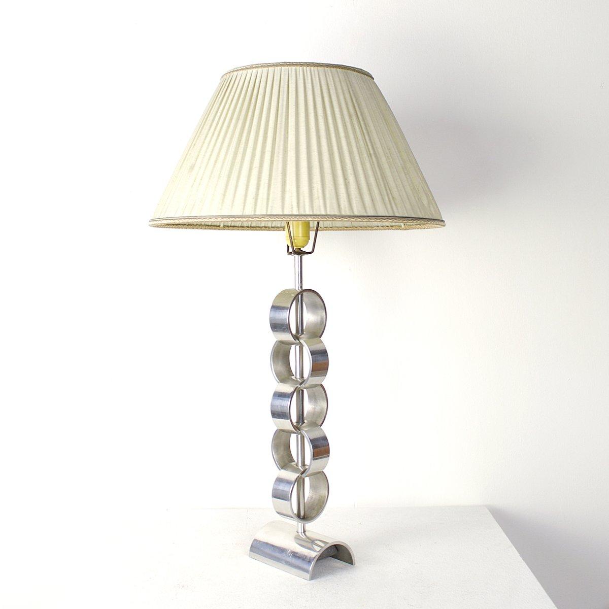 Mid-Century Aluminium Tischlampe