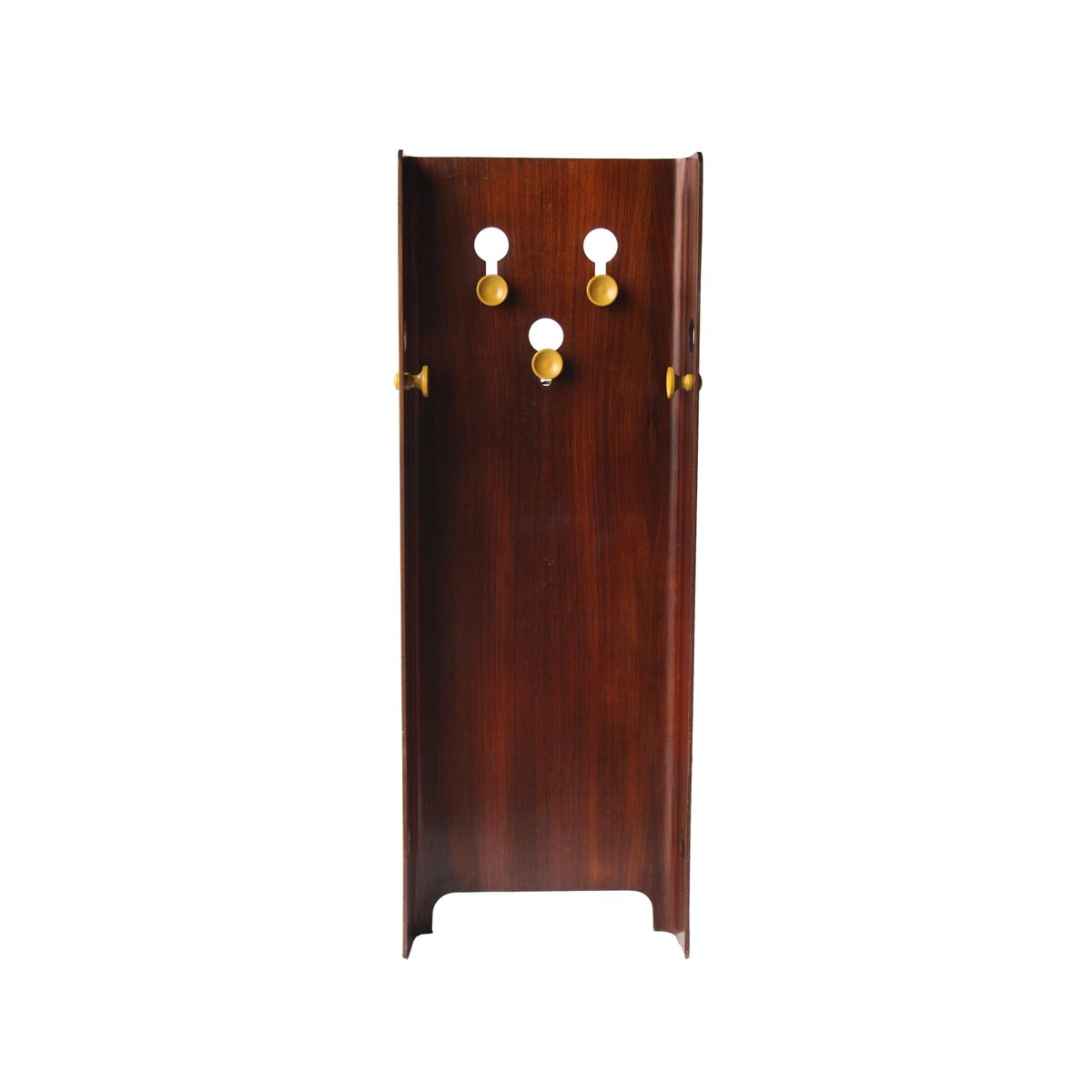 vintage rosewood wall mounted coat rack for sale at pamono. Black Bedroom Furniture Sets. Home Design Ideas
