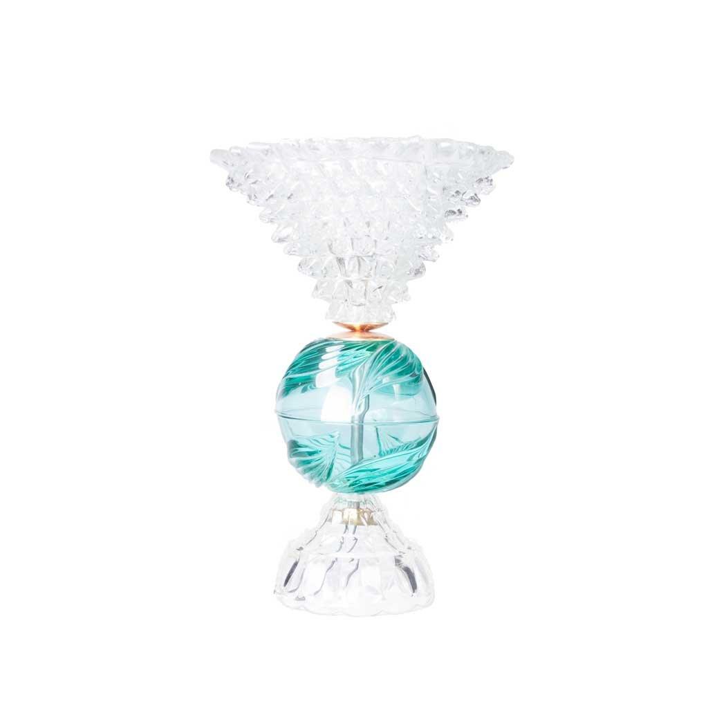 Tischlampe aus Kristall & Messing, 1960er