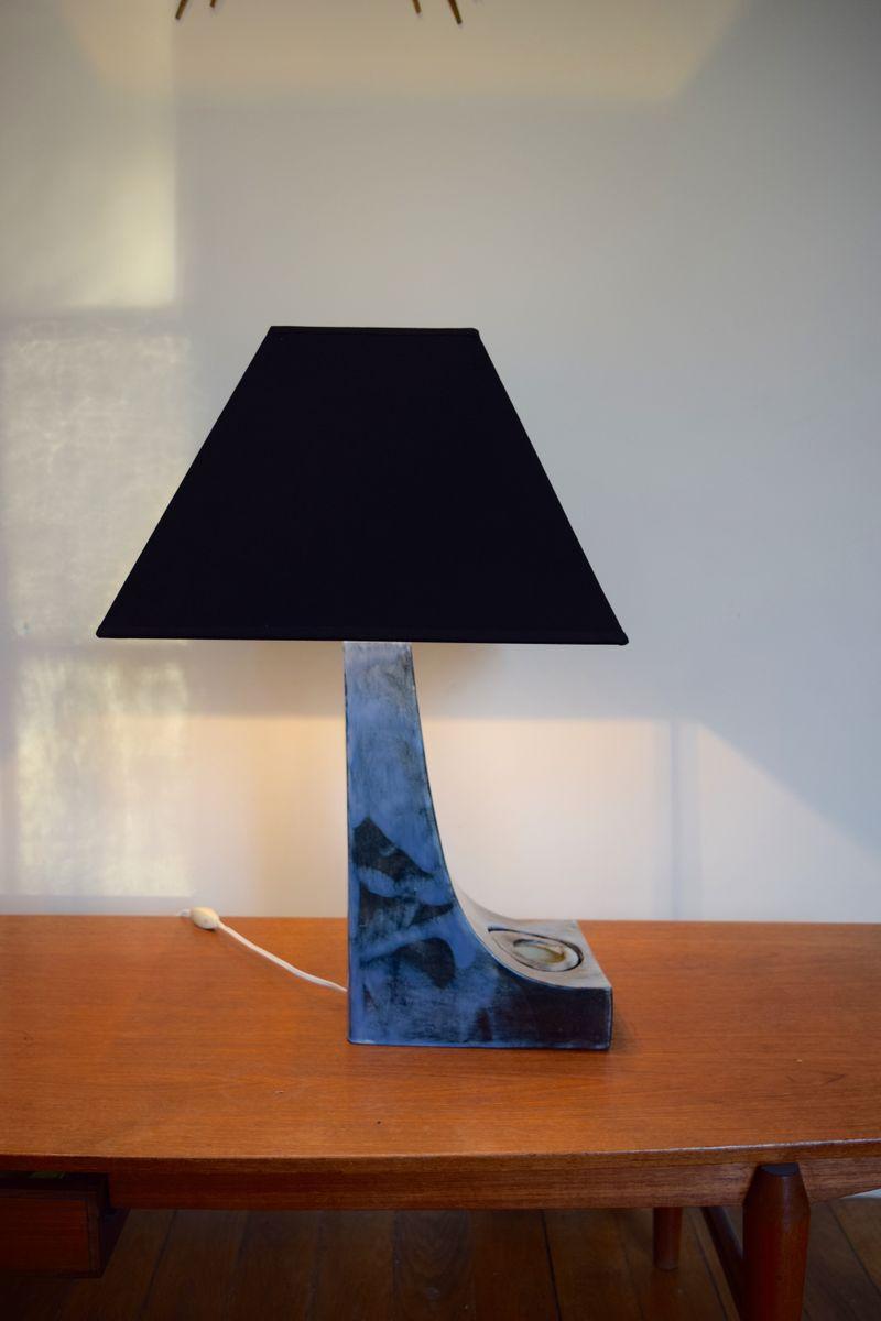 Blaue Geometrische Tischlampe