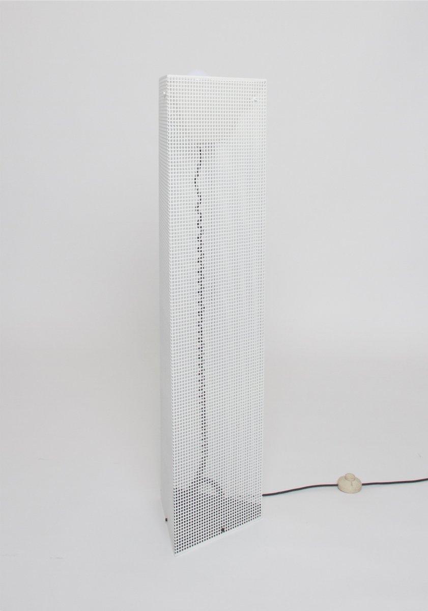 Weiß Lackierte Metall Stehlampe, 1980er