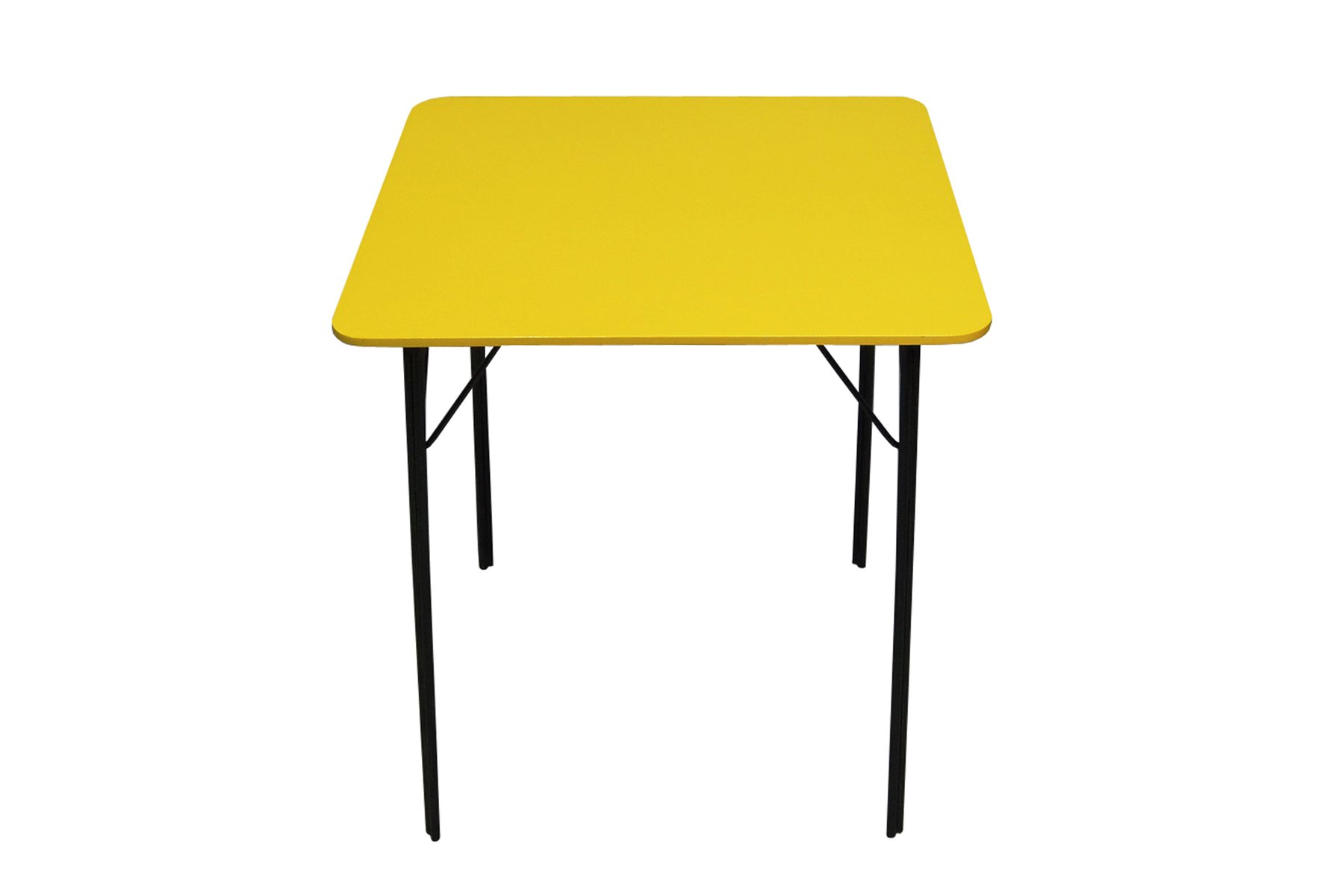 table de salle manger vintage jaune en vente sur pamono. Black Bedroom Furniture Sets. Home Design Ideas