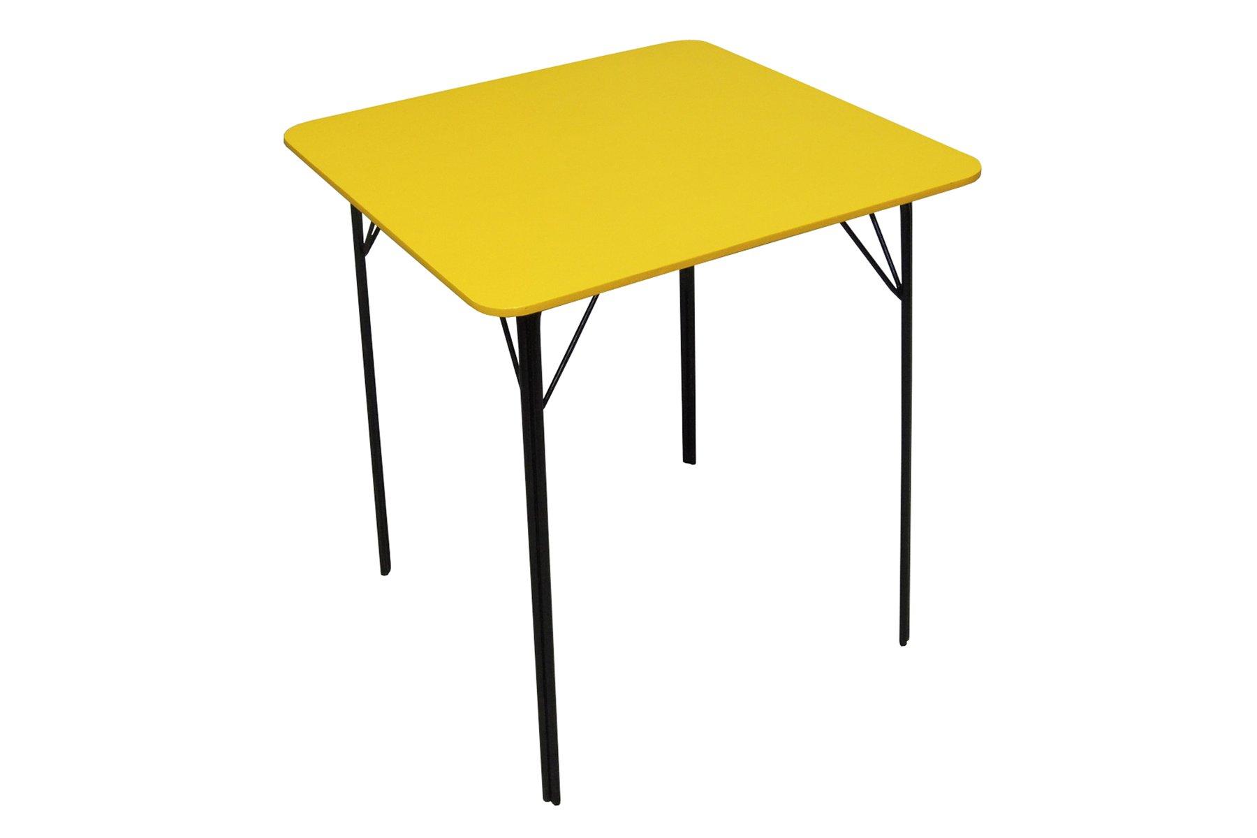 table de salle manger vintage jaune en vente sur pamono. Black Bedroom Furniture Sets. Home Design Ideas