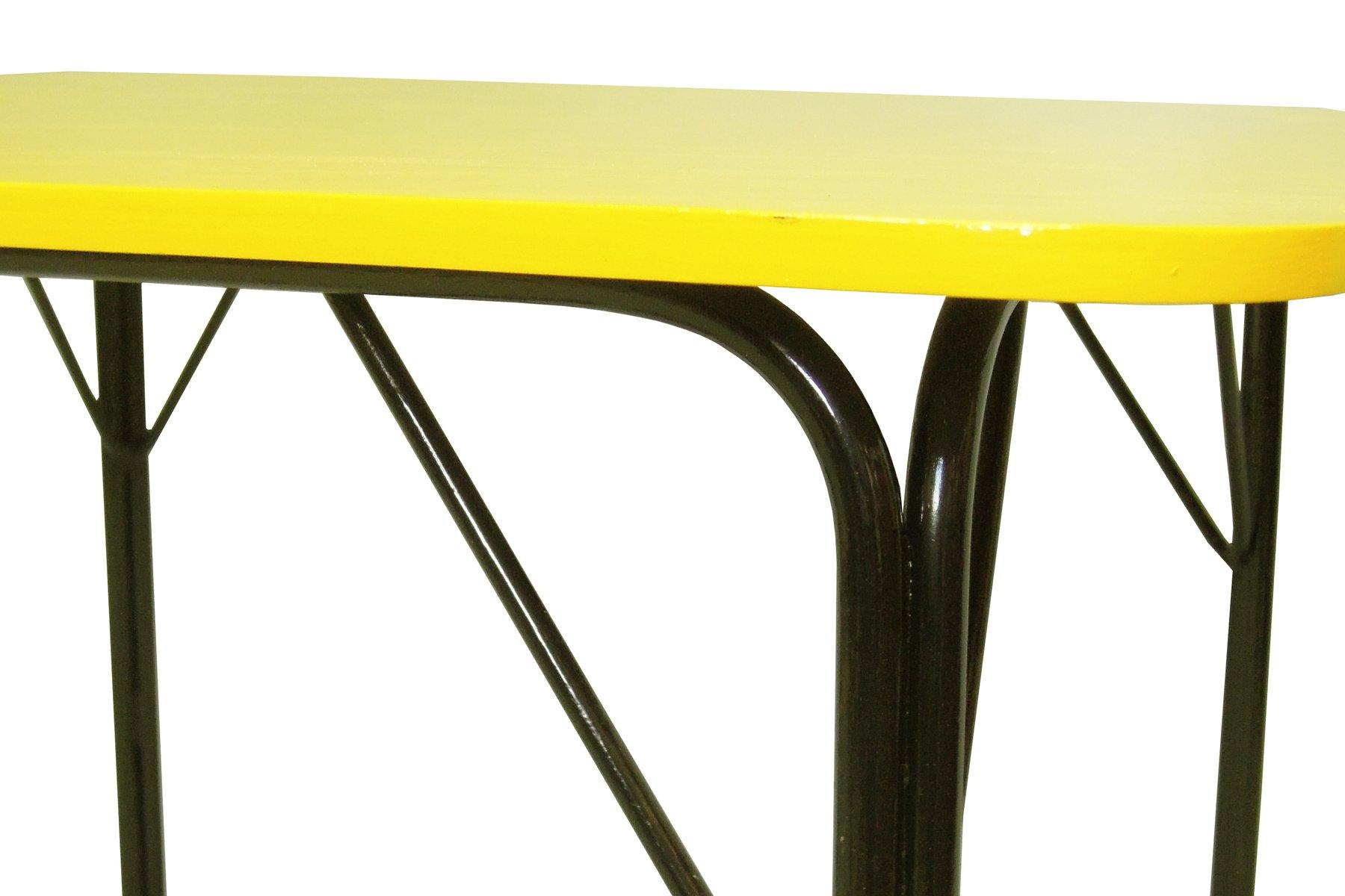 Tavolo Formica Giallo : Tavolo da pranzo vintage giallo in vendita su pamono