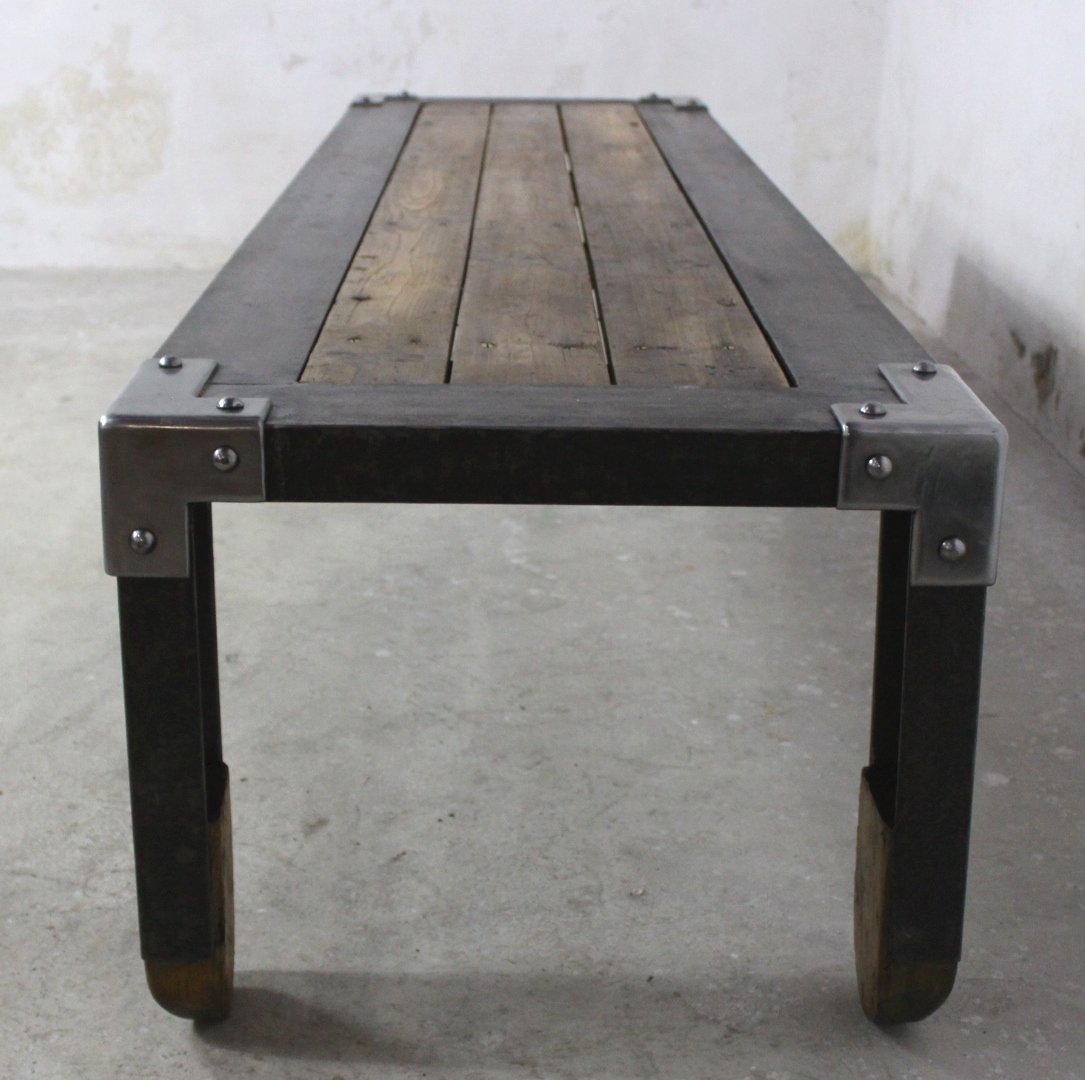 Long Industrial Coffee Table, 1950s For Sale At Pamono