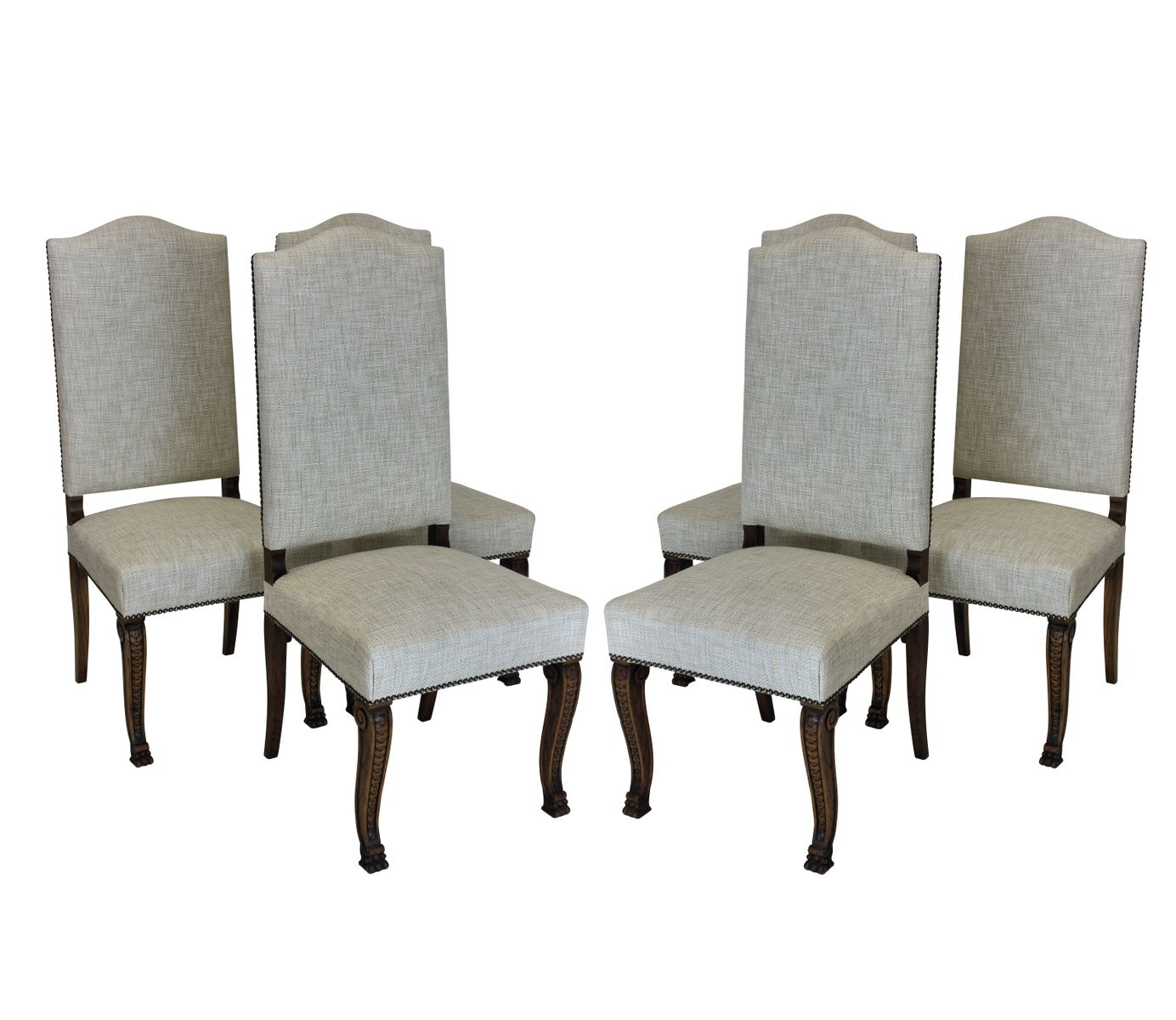 French high back dining chairs 1830s set of 6