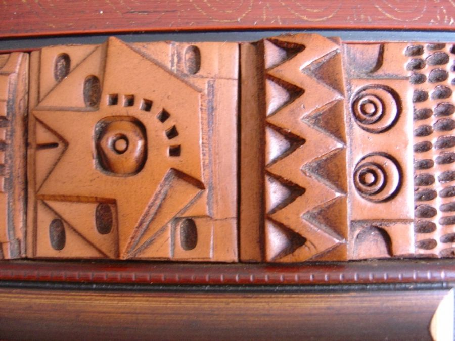 Specchio con piastrelle in terracotta di ron hitchins anni 60 in