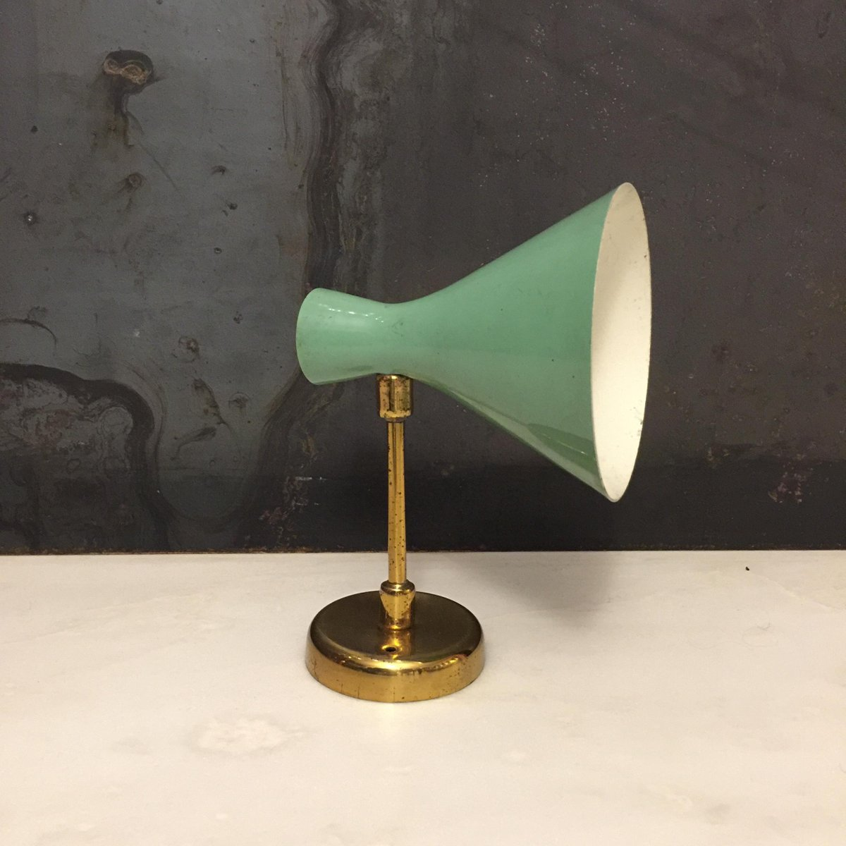 Grüne Mid-Century Wandlampe