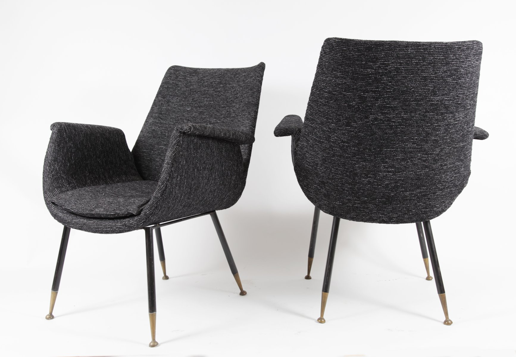 kleine sessel von gastone rinaldi f r rima 1956 2er set. Black Bedroom Furniture Sets. Home Design Ideas