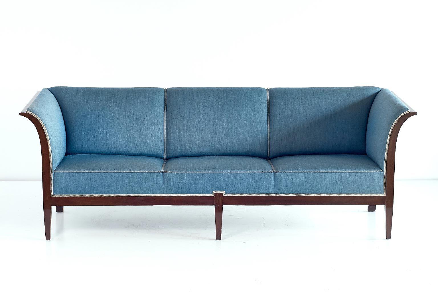 mahagoni sofa von frits henningsen 1940er bei pamono kaufen. Black Bedroom Furniture Sets. Home Design Ideas