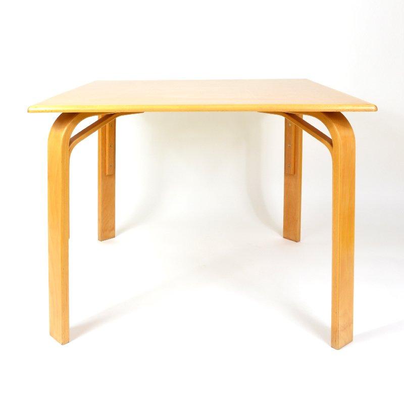 Tschechischer Viereckiger Vintage Holztisch