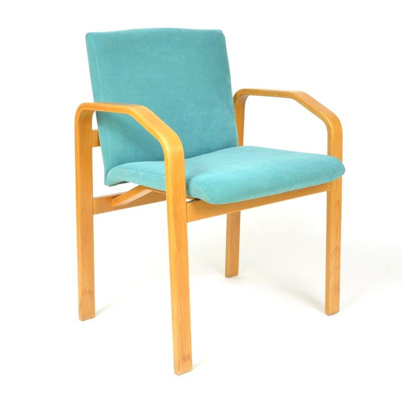 t rkise vintage esszimmerst hle 4er set bei pamono kaufen. Black Bedroom Furniture Sets. Home Design Ideas