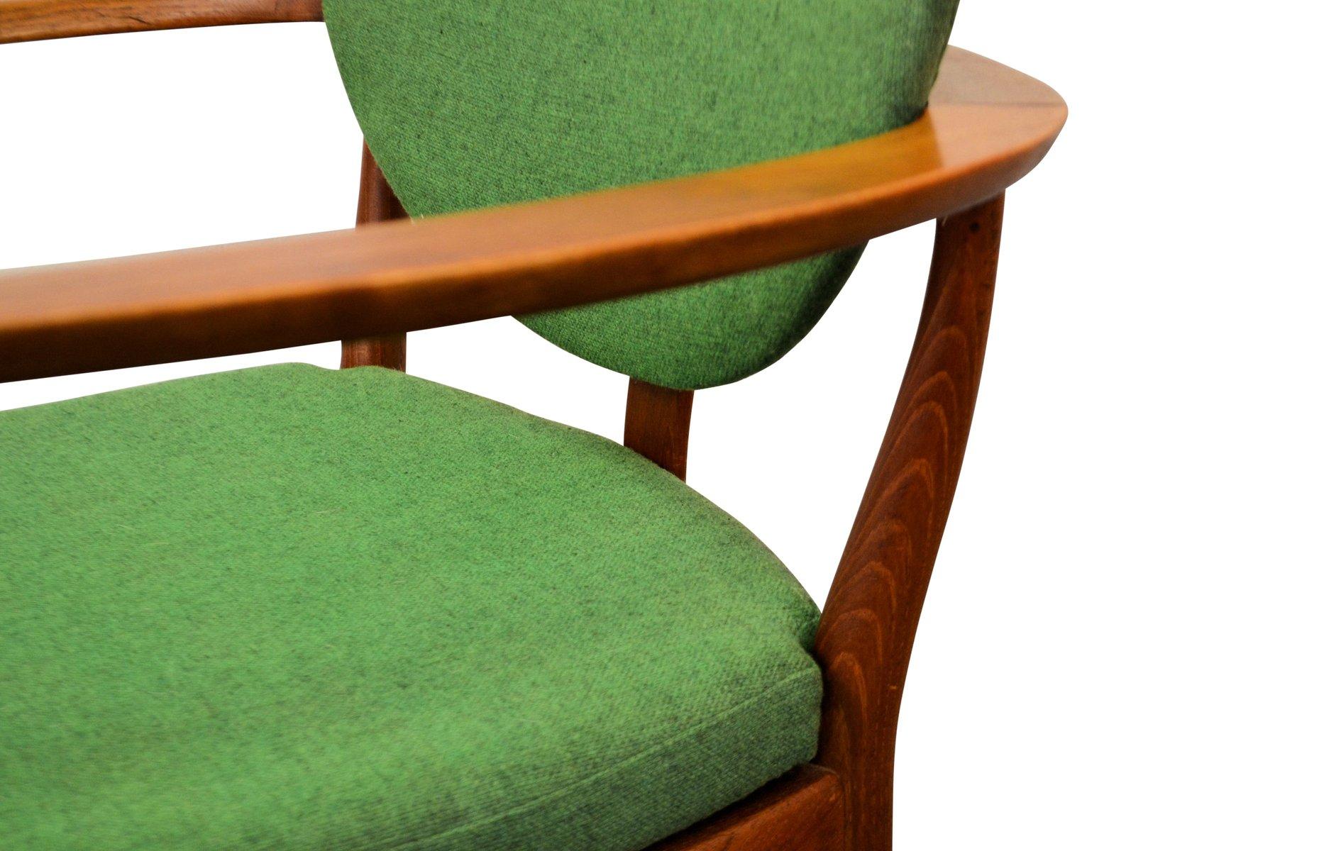 d nische teak armlehnst hle in gr n und blau 2er set bei pamono kaufen. Black Bedroom Furniture Sets. Home Design Ideas