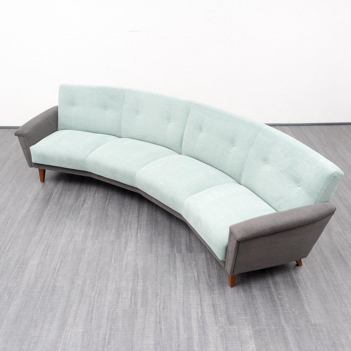gro es halbrundes sofa 1950er bei pamono kaufen. Black Bedroom Furniture Sets. Home Design Ideas